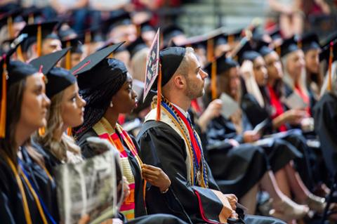Commencement students